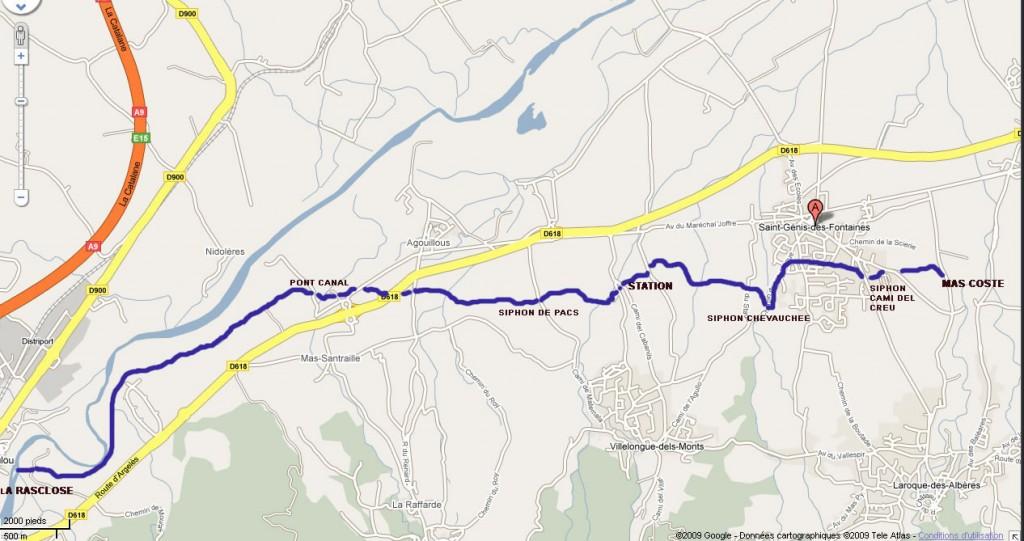 carte du Canal des Albères